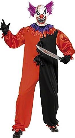 Smiffys Déguisement Homme, Bo Bo le clown de cirque sinistre et effrayant, avec combinaison, Taille M, 33474