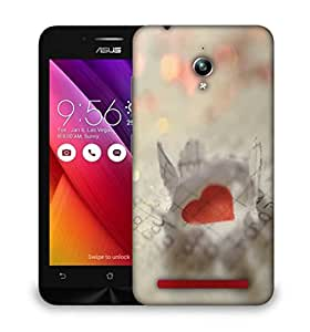 Snoogg paper heart Designer Protective Back Case Cover For Asus Zenfone GO