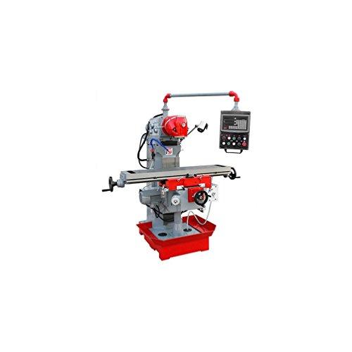 Holzmann-Fresadora vertical Metal Digital rotativa 360° D. 25mm 400V 2200W-BF 700Holzmann