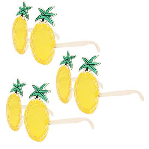 Amosfun 3 stücke Party Sonnenbrille Ananas Neuheit Lustige Brillen für Hawaiian Maskerade Trick Geburtstag Hochzeit Party Requisiten favorisiert