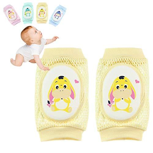 Insense Slip Baby Knee Pads,Infant Crawling Anti-Slip Knee Breathable KneepadsToddler Crawling Safety Protector for Boys/Girls (Unisex) (Donkey Yellow)