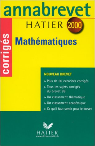Annabrevet corrigés 2000 - mathématiques