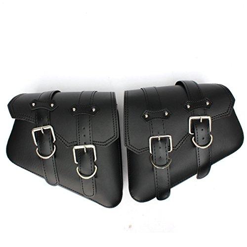 Harley Motorrad Tasche - TOOGOO(R)2x Universal Motorrad Tasche motorrad Satteltaschen Tasche fuer Harley Schwarz (Harley Motorrad Satteltaschen)
