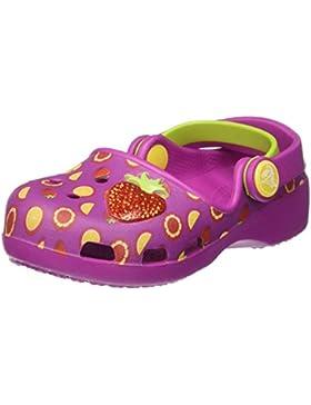 Crocs Karin Novelty Clog K Vivlt/TNG, Zuecos para Niñas