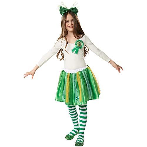 dressforfun 900546 Unisex Kinderkostüm St. Patrick's Day Tutu in Nationalfarben, Tutu in irischen Nationalfarben (140/152| Nr. 302628) (Mädchen Irische Halloween-kostüm)