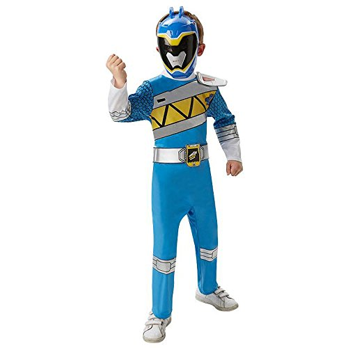 Power Ranger Dino Charge Karneval Gr.5 bis 6 J. (Kinder Blaue Power Ranger Kostüm)