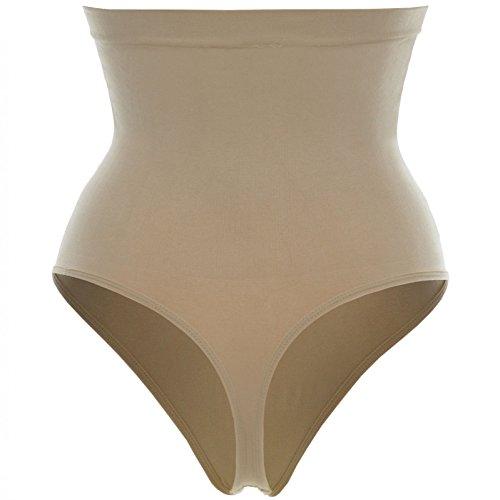 Komfort Damen Figurformende Bauchweg Form String Unterwäsche hoher Bund 20978 Beige