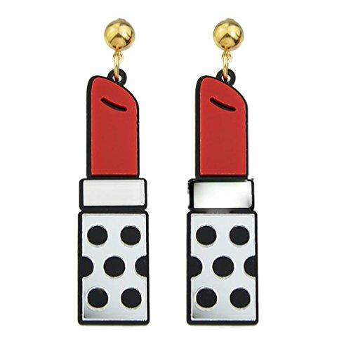 HFJ&YIE&H Mode Lippenstifte Form Big Drop Ohrringe , silver , one size