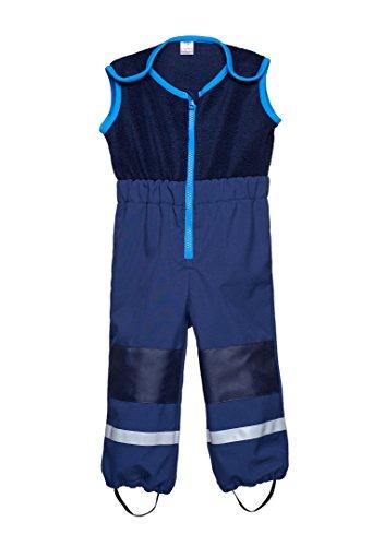 Softshell-Matschhose CARGO mit Fleece Weste / Fleece Latz für Kleinkinder von be baby! (Wassersäule: 10.000 mm), dunkelblau, Gr. 92-98