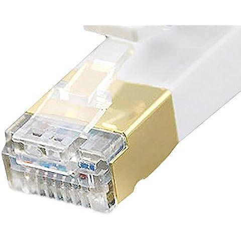 Vandesail Cable de red Gigabit Ethernet Lan CAT.7 (RJ45) / Ultra Durable High Performance Ethernet Patch Cable/ STP/ 10/100/1000Mbit/s / Compatible con CAT.5/e
