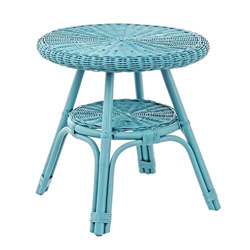 ARREDinITALY Table d'extérieur en rotin et Midollino Bleu