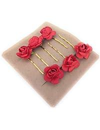 Rose bobby hair clips Salon Wedding Bridesmaid Accessory/Hair Pins for Girls - 6 pcs