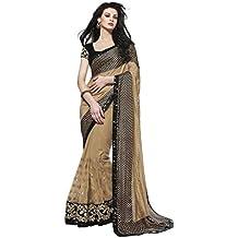 Jay Sarees - Sari - para mujer Marrón marrón única