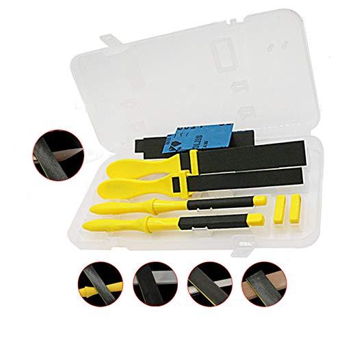 Sandpapier-Stick, Flatfile Schleifen Papier Für Metall Holz Restaurierung Schränke Polierwerkzeug 4pcs