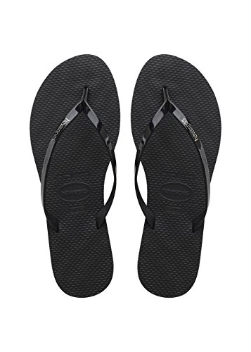 Havaianas Damen You Metallic Zehentrenner, Schwarz (Black 0090), 43/44 EU ( 41/42 Brazilian)
