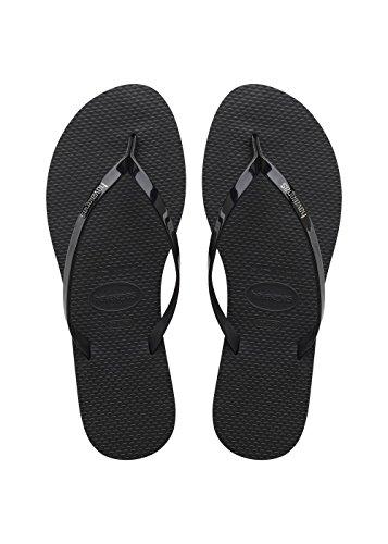 flip flops damen schwarz Havaianas Damen You Metallic Zehentrenner,Schwarz (Black 0090),37/38 EU ( 35/36 Brazilian)