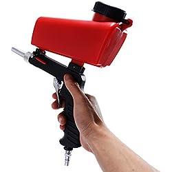 KKmoon Machine de Sablage Portable Gravity Pneumatique Ensemble Maison DIY Mini Sablage Dispositif 90psi Sableuse Antirouille Réglable SY-7365R