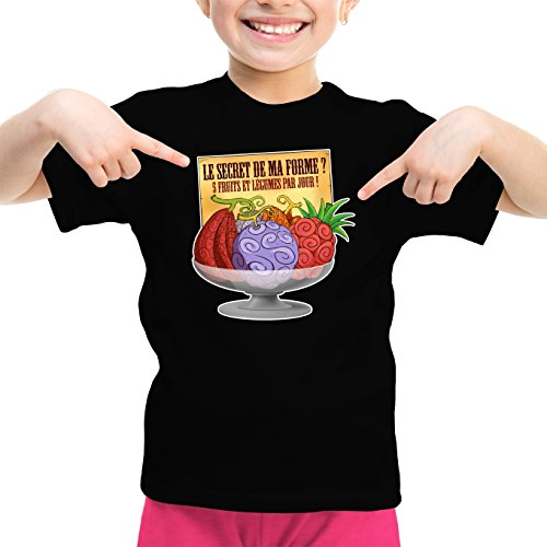 T-Shirts One Piece parodique Fruit du Démon : Le Secret de la Forme des Pirates de Grand Line ! (Parodie One Piece)