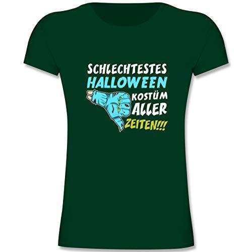 Anlässe Kinder - Schlechtestes Halloween Kostüm Aller Zeiten - 164 (14-15 Jahre) - Tannengrün - F131K - Mädchen Kinder T-Shirt (2019 Halloween-kostüme Schlechte)