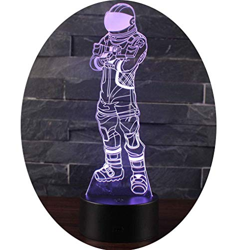 Leisu 3D Lámpara LED luz de la noche 7 cambiar el color botón tácti