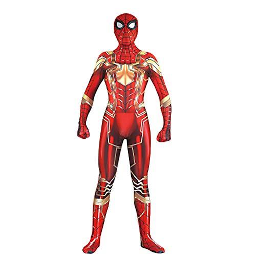 QWEASZER Spiderman-Kostüm, Offizielles Marvel Infinity War Iron Spider Deluxe Filmkostüm, Erwachsene - Iron Mann Deluxe Kostüm