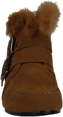 Damen Keilabsatz Wedge Absatz Stiefeletten Keil Boots Herbst Frühjar Sommer Stiefeletten Camel