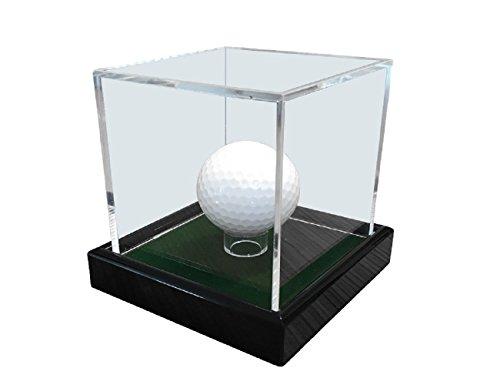 LL-Golf® Golfball Vitrine/Acryl Vitrine/Showcase/Display case/Schaukasten mit grünen Samt/Golf