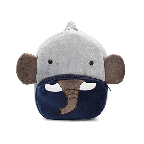 Mochila Suave de la Escuela de los niños del Dibujo Animado 3D, Bolsas Lindas de la Escuela del Animal zoológico para los niños pequeños o Las Muchachas (Elefante)