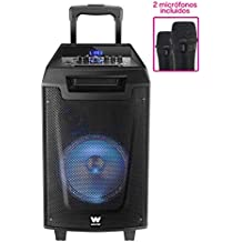 Woxter RocknRoller - Altavoz trolley con función karaoke (80 W,