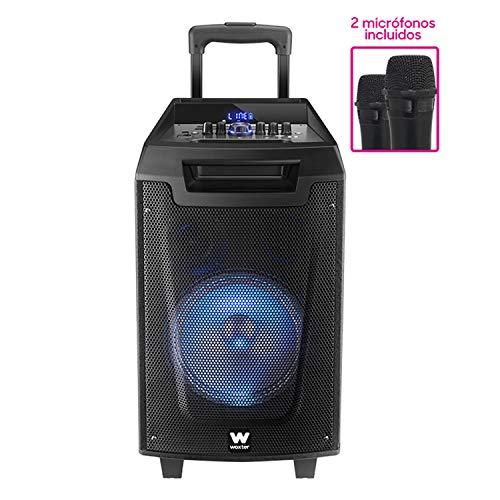 Woxter Rock'n'Roller - Altavoz Trolley con Función Karaoke, 80W, Display Led, BLUETOOTH,...