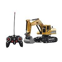 fengz Mini Remote Control Bulldozer 1:24 Alloy Engineering Car Truck Excavator Toys【K】