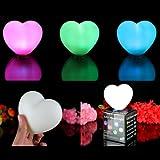 3er Set LED-Stimmungslichter Herz Lampen mit Farbwechsel von PK Green