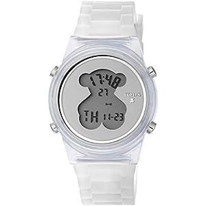 Reloj TOUS D-Bear Fresh de policarbonato con correa de silicona blanca de Tous