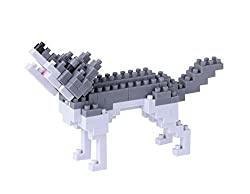 Nano block 14939 – Grey Wolf 3D Puzzle – Mini Collection (130 Pieces) (Difficulty Level 2 (Medium)