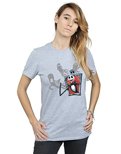 Disney Damen Nightmare Before Christmas Ghosts of Jack Boyfriend Fit T-Shirt Sport Grau Small (Waren Fit König Für Einen)