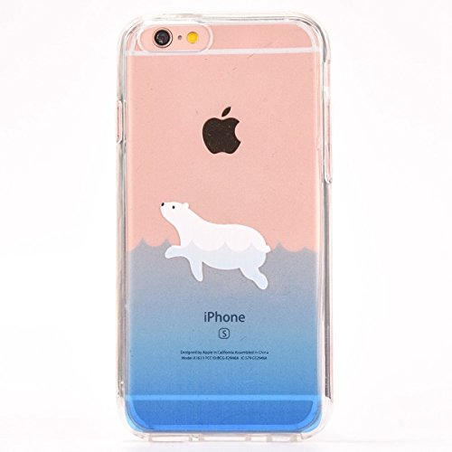 iPhone 6 Plus Hülle,iPhone 6S Plus Case,iPhone 6S Plus Silikon Cover - Felfy Ultra Dünne Slim Full Body Transparent Soft Gel TPU Silikon Rahmen mit Plastic Back Case Schöne Bunte Muster Design Case Rü Dichtung