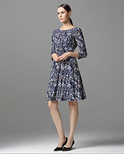 Sarah Dean Newyork - Robe - Robe - Femme bleu imprimé imprimé