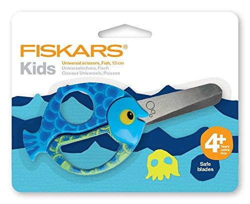 Fiskars Tijeras animales niños motivos peces, A partir