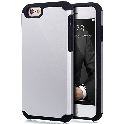 Cover iPhone 6S,Cover iPhone 6,Custodia iPhone 6S / 6 Cover,ikasus® [Heavy Duty Serie] Hybrid Outdoor Dual Layer Armor Custodia custody sleeve Case Cover per iPhone 6S / 6 Custodia Cover [Shock-Absorp Bianca