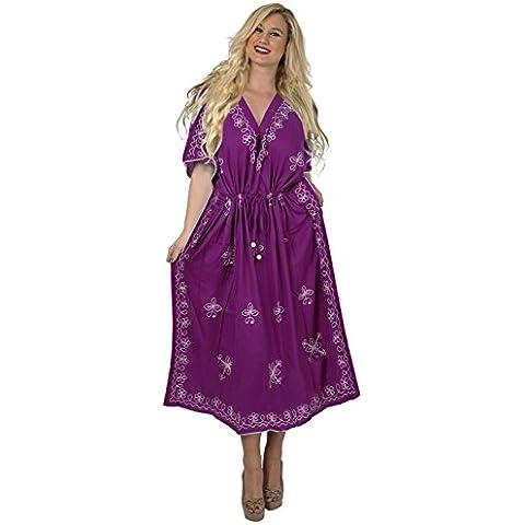 La Leela 5 in 1 hawaiian costume da bagno costume da bagno bikini beach party coprire indumenti da letto vestito lungo casuale top tunica super liscio rayon ricamato veste più il kimono formato maxi