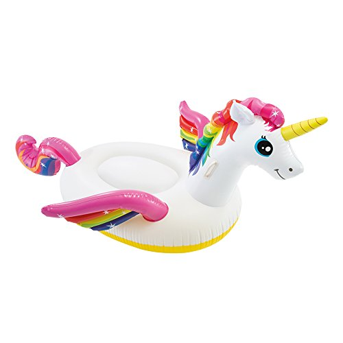Intex 57561 - Cavalcabile Unicorno, Multicolore, 201 x 140 x 97 cm