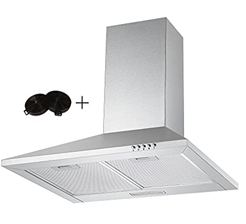 Unbranded CH600SS 60cm Chimney Cooker Hood in Stainless Steel with Filters