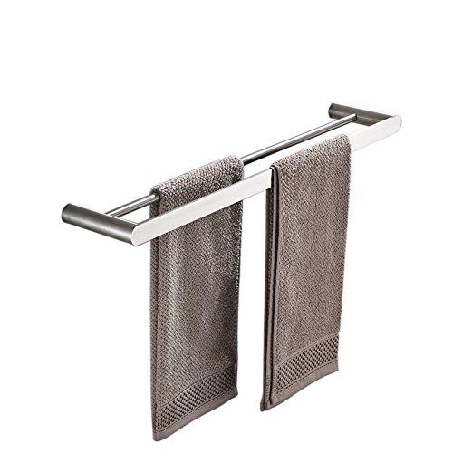 XINYU Doppel-Handtuchstange rail-60cm/60cm, Wand montiert Edelstahl Handtuch Rack