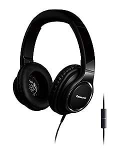 Panasonic RP-HD6ME-K High Resolution Kopfhörer (Over-Ear, Headset, 4-40.000 Hz, 40mm Wandler, Mikrofon, Controller, verstellbares Kopfband) schwarz