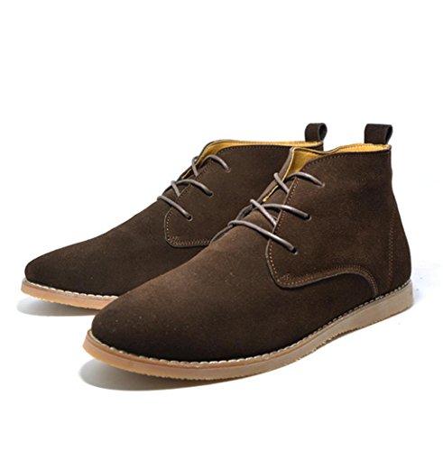 WZW Men es kausale hochgeschnittene Veloursleder Schuhe Wüste/Arbeit/Martin Stiefel coffee