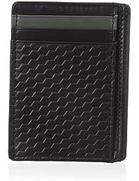 Buxton Men'S Bellamy Rfid Blocking Leather Slim Minimalist Front Pocket Get-Away Wallet, Black, One Size