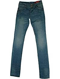 QS by s.Oliver Damen Hüft-Stretch-Röhren- Jeans Gr. 32 / L34 // blau