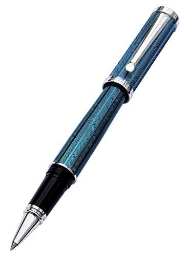 xezo-architect-azure-metallic-caribbean-blue-fine-executive-rollerball-pen-diamond-cut-weighty-barre