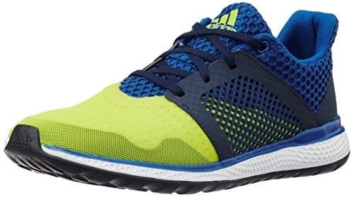 adidas Energy Bounce 2 M, Chaussures de Running Compétition Homme, 49 1/3 EU Jaune / Blanc / Bleu (Amaimp / Ftwbla / Eqtazu)