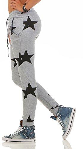 Mr. Shine Damen Sweatpants Baggy Hose Boyfriendhose Freizeithose Jogginghose Fitness Sporthose Yogapants Jogger Loose Fit Big Star S-XXXL Hell Grau